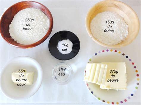 les ingredients de la pate feuilletee p 226 te feuillet 233 e invers 233 e aux fourneaux