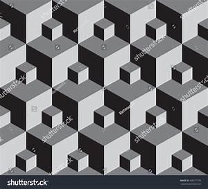 Vector Illustration Seamless Pattern 3d Cube Stock Vector ...