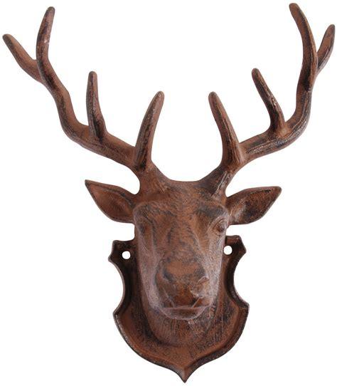 reindeer antler cast iron stag deer wall mounted metal plaque antlers reindeer new ebay