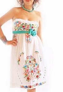 alegria white mexican wedding dress bohemian strapless With embroidered mexican wedding dress