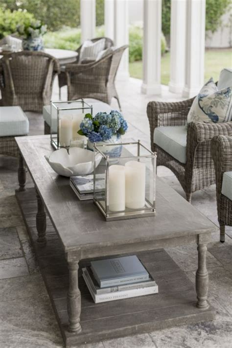 designer tips  styling  coffee table outdoor coffee