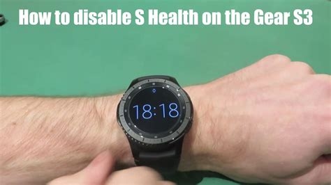 samsung gear s3 how to disable s health to save battery power