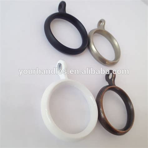 europe steel window decorative white curtain pole rings