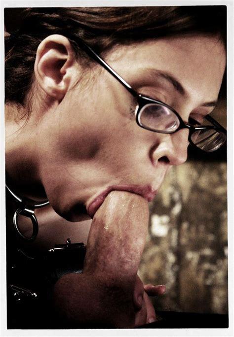 Female Teacher With Glasses On Sucks A Big Dick Blowjob
