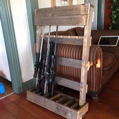 pallet gun stand wood pallet projects gun cabinet
