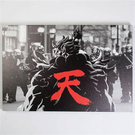 Bait X Street Fighter Akuma Snapshot 24 X 30 In Canvas Art