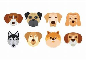 Dog Face Vector - Download Free Vector Art, Stock Graphics ...