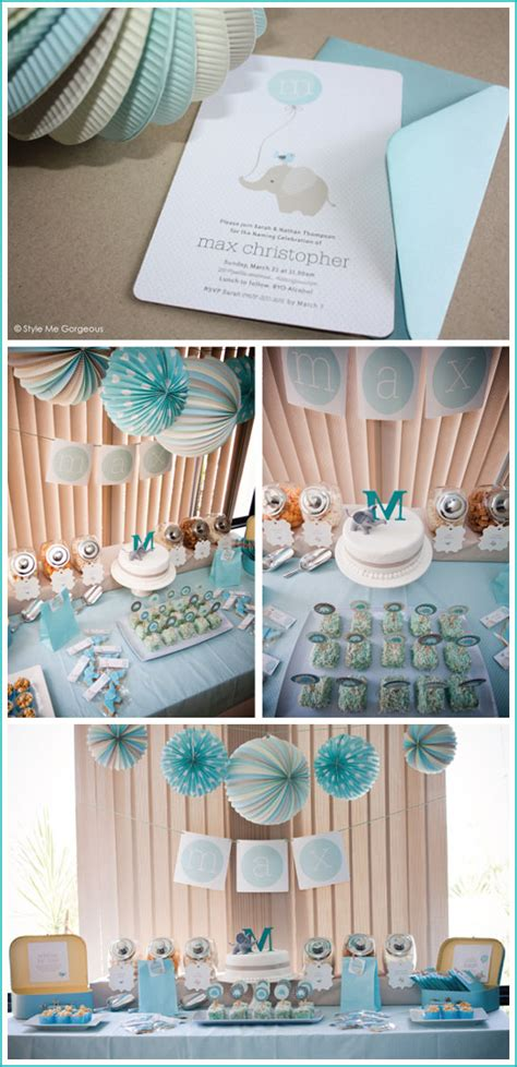 blue elephant baby shower decorations real elephant baby shower