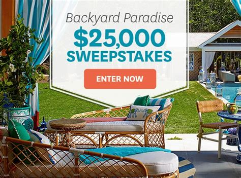 better homes and gardens sweepstakes better homes and gardens 25k backyard paradise sweepstakes