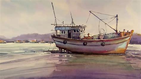 Watercolor Boat by Watercolor Paintings Of Fishing Boats Mafiamedia