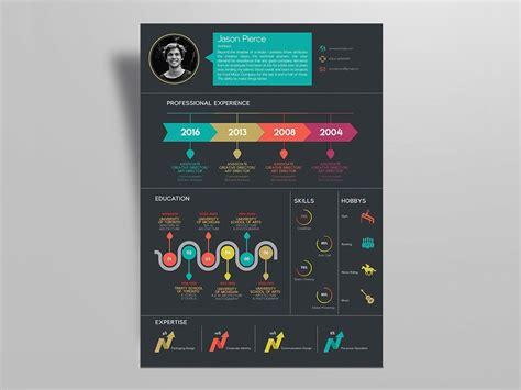 creative infographic resume template   job