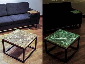 these unique city map coffee tables glow in the dark With glowing coffee table