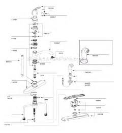 Moen Kitchen Faucet Repair Diagram Moen 7445 Parts List And Diagram Ereplacementparts