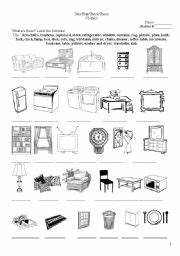 14 best images of living room esl worksheet living room With furniture in the living room worksheet