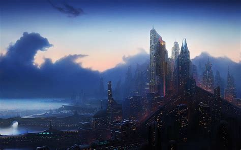 fantasy city wallpapers pictures images