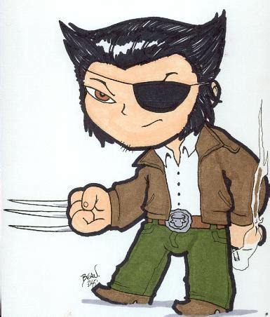 Chibiwolverine As Patch By Hedbonstudios On Deviantart