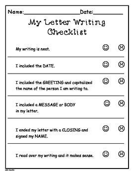 writers workshop letter writing templates more grade 1