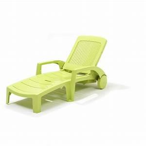 Chaise De Jardin Verte : chaise longue fidji vert anis grosfillex chaises longues ~ Teatrodelosmanantiales.com Idées de Décoration