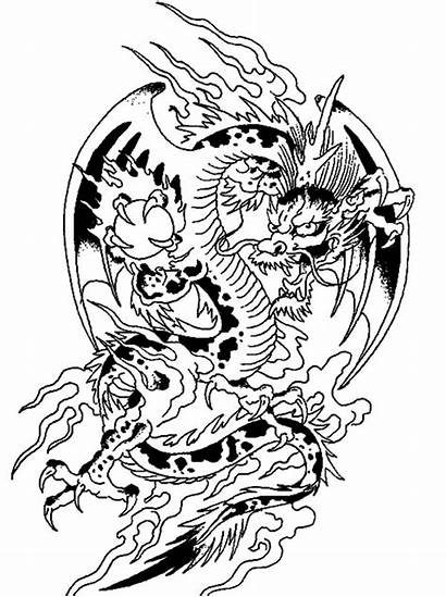 Dragon Chinese Coloring Fantasy Drawing Crystal Ball