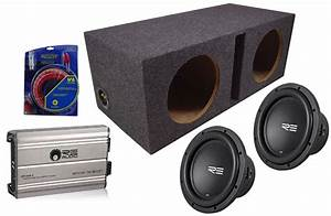 Re Audio Srx15 Car Stereo Powered Dual 15 U0026quot  Vented Sub Box