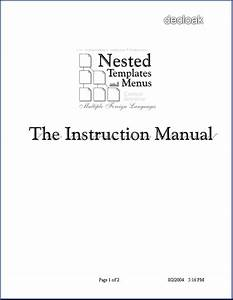 Nested Templates