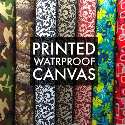 printed canvas fabric waterproof outdoor  wide  denier  yard ebay