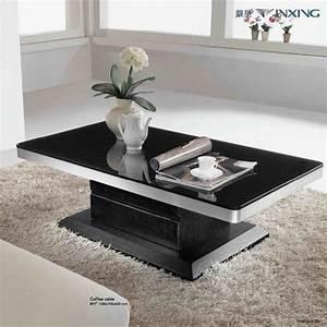 Elegant black coffee table sets for living room for Modern coffee table and end table set