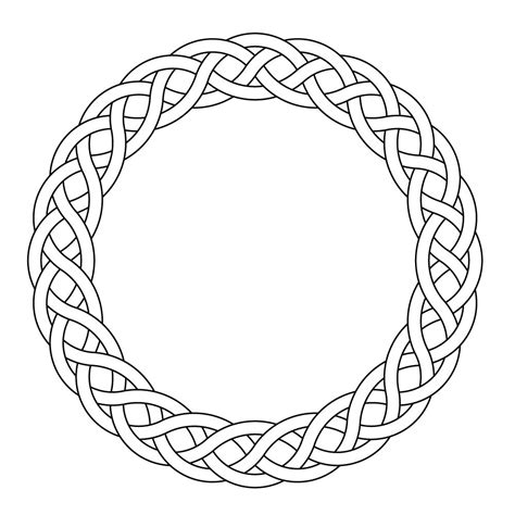 Celtic knot-worrk circle garland narrow by Peter Mulkers ...