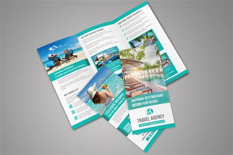Travel Brochure Template 3 Fold by Travel Tri Fold Brochure Brochure Templates On Creative
