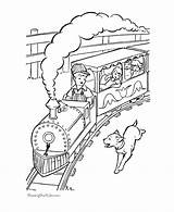 Coloring Train Pages Caboose Trains Popular sketch template