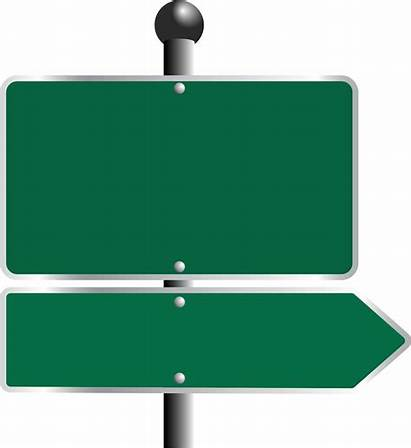 Road Sign Signs Street Clipart Blank Arrow