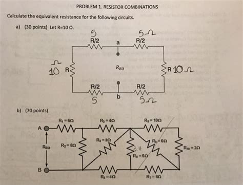 Solved Calculate The Equivalent Resistance For Follow