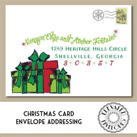 editable christmas envelope templatechristmas envelope