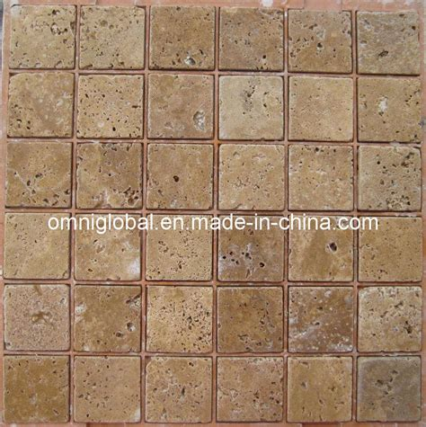 china noce travertine marble mosaic tile wall tile floor