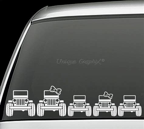 jeep family stickers jeep family vinyl decals window stickers by uniquegraphix
