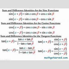 Trigonometric Identities Analytic