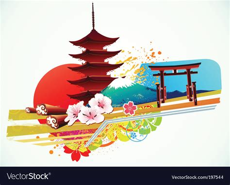 traditional japanese background royalty  vector image