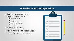 User Guide  Metadata Card Configuration