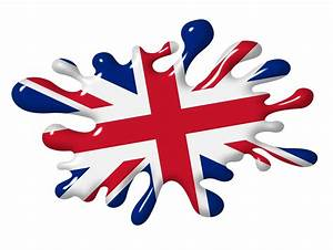 3D Shaded Effect SPLAT Design With Union Jack British Flag