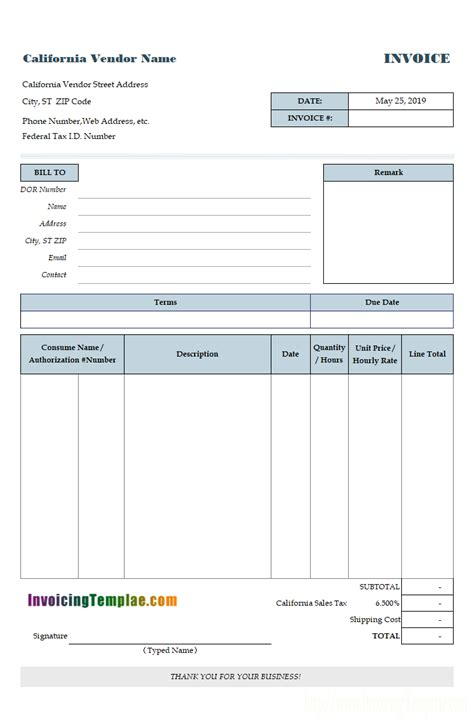 invoice templates  editable