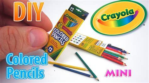 Diy Miniature Crayola Colored Pencils