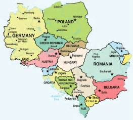 The Iron Curtain Divided The World Into by Map Of Central Europe Central Europe Political Map