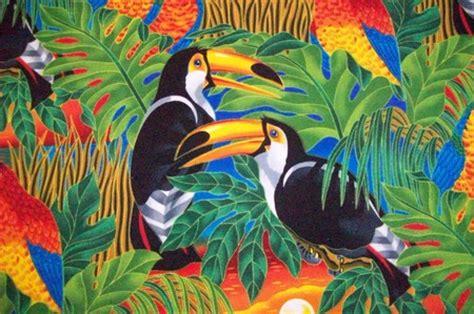 big colorful bird colorful bird fabric birds animals background