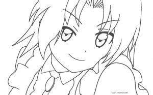 printable anime coloring pages  kids