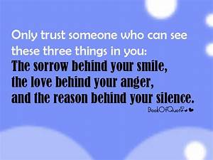Trust Quote | Friendship Quotes - a large collection of ...