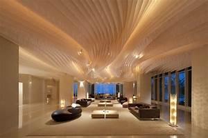 Futuristic Office Design With Unique Exposed Ceiling Ideas