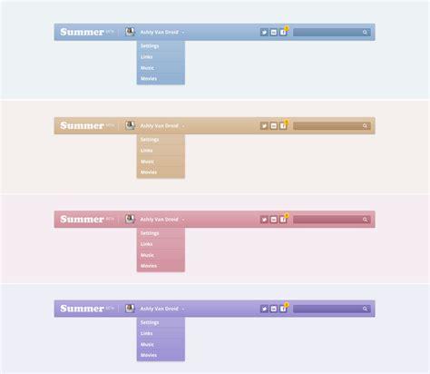 css template top bar top navigation bar css3 html5 by manca codecanyon