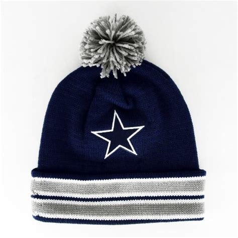 cowboys colors dallas cowboys the cuffed pom knit team colors
