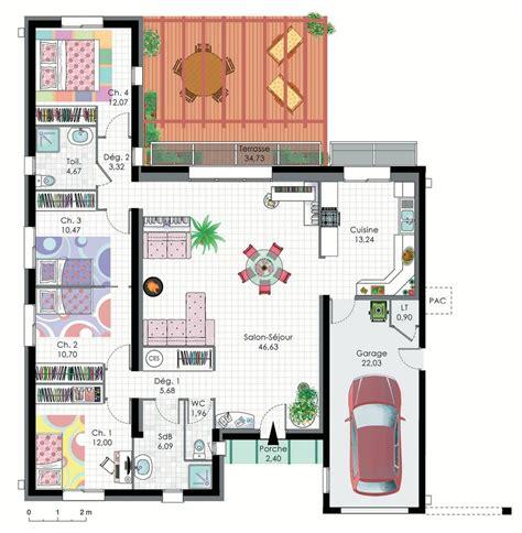 plan maison 4 chambres 騁age modeles de maisons maison moderne