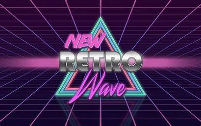 Synthwave Retro Neon Wave 1980s Digital Wallpapers
